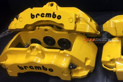 Porsche 18Z brembo 6POT 六活塞卡鉗 烤漆 改色 維修 保養 清潔 套裝煞車歡迎詢問 / 制動改