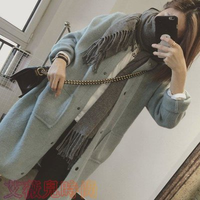Gssaw.AJ【AZ0795】韓國含兔絨加厚針織毛衣外套【快速到貨】