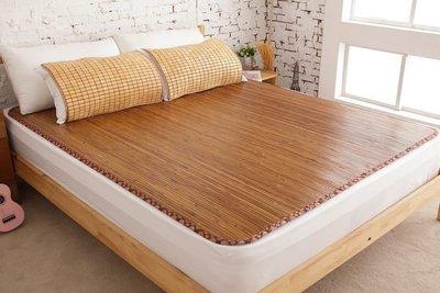 【鹿港竹蓆】11mm  碳化竹蓆(涼蓆)  6呎  加大雙人  100%台灣製造  酷夏最佳涼伴  附收納袋