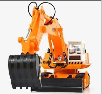 【蘑菇小隊】遙控汽車遙控挖掘機充電動合金工程車無線兒童玩具男孩禮物耐摔大號挖土機DF-MG62288