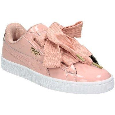 PUMA Basket Heart Patent 363073-14 玫瑰粉 漆皮 緞帶鞋 蝴蝶結 蕾哈娜