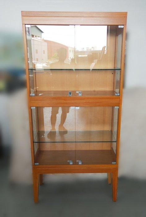 台中宏品二手家具 中古傢俱賣場 D6031*木紋玻璃展示櫃 展示架 櫃檯 *便宜家二手家具拍賣 冷氣空調 冰箱電視