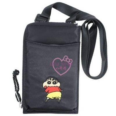 ♥小花花日本精品♥蠟筆小新直立式尼龍斜背手機包零錢包收納包外出包多功能包~3