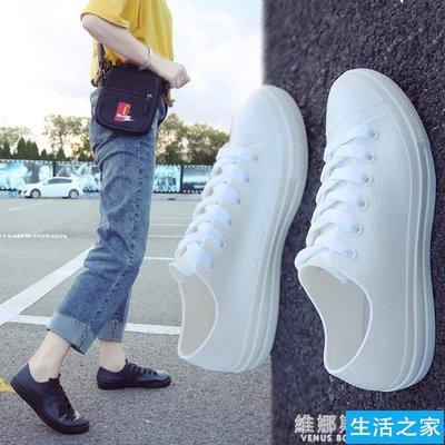 9折 雨鞋女時尚款外穿 新款韓版低幫平底水靴 女成人短筒休閒防水雨靴【生活之家】