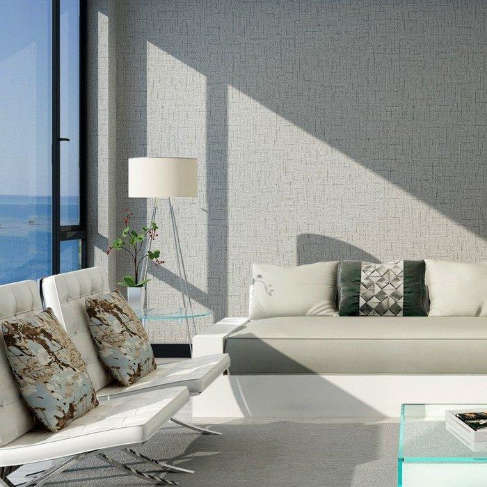 無紡布牆紙現代素色純色麻纖客廳臥室滿鋪壁紙環保簡約麻布紋