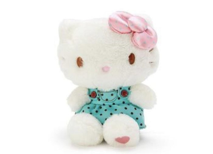 Hello Kitty 絨毛玩偶娃娃《M.綠白》