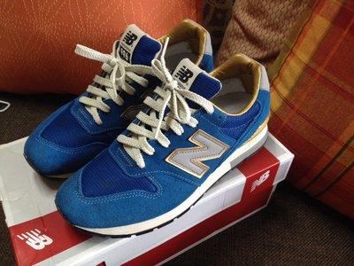 【專櫃鞋】New Balance NB 996 燙金 藍金 海軍藍 深藍灰  麂皮 復古慢跑鞋 男女款皆可 九成新 台北市