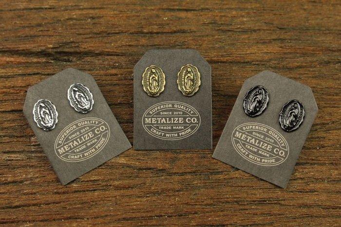 GOODFORIT / 台灣飾品品牌METALIZE Guadalupe小聖母圓牌耳環