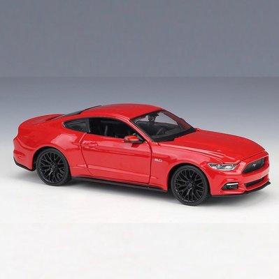 阿米格Amigo│拼裝版 2015 福特 野馬 Ford Mustang GT 1:24 美馳圖 合金車模型車39126