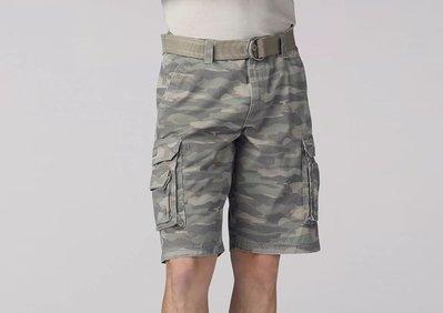 【美國Levis專賣】送鐵環腰帶LEE Dungarees Cargo 重磅 雪地迷彩立體口袋短褲29-42腰優惠501
