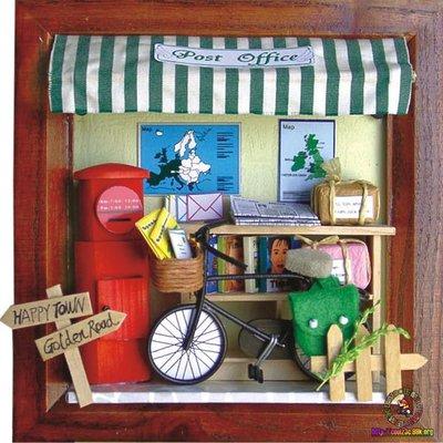 【酷正3C】我的DIY小木屋 袖珍屋 娃娃屋 微縮場景系列 迷你相框 小郵局
