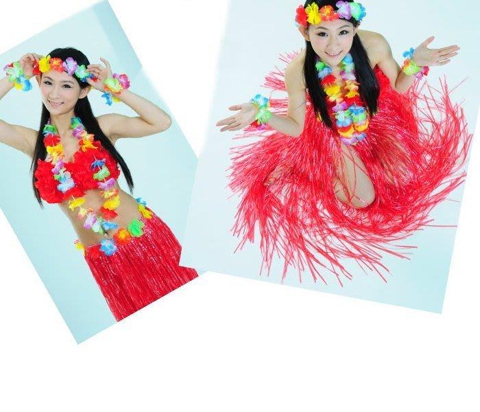 ((麻辣館))新款上市03013款小花圈~夏威夷草裙舞~服裝表演
