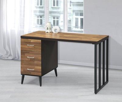【巧益傢俱概念館】ZF系列 工業風書桌(下3抽)