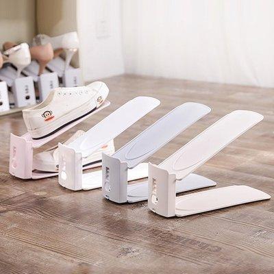 ♣生活職人♣【F06】雙層可調節鞋架(單入) 創意 素色 簡易 鞋托架 防塵 收納鞋架 家用 鞋子收納架 居家用品 可拆