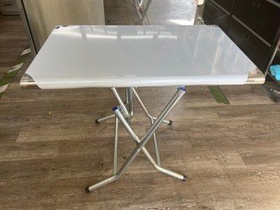 吉田二手傢俱❤全新2*3白鐵折合桌 不鏽鋼折桌/可收納式桌/行動折合桌/摺疊桌/折疊桌/餐桌/拜拜桌/置物桌