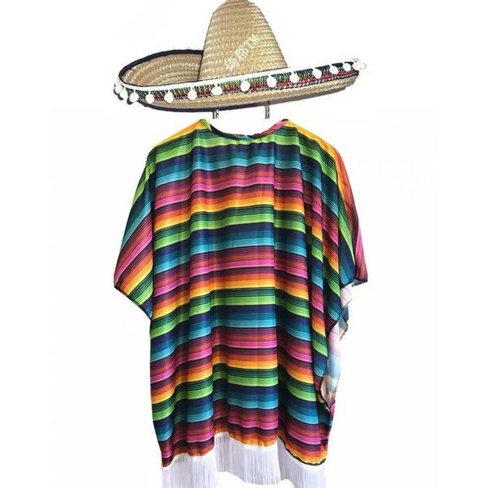 高雄艾蜜莉戲劇服裝表演服*墨西哥服裝-含帽*購買價$800元/出租價$300元