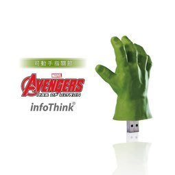 【紫色風鈴】特價 InfoThink 復仇者聯盟2浩克手隨身碟16GB(可動式手指關節)16GB