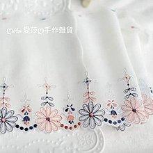 『ღIAsa 愛莎ღ手作雜貨』外單精美雪紡刺繡蕾絲服裝花邊輔料製衣服裝材料寬17cm