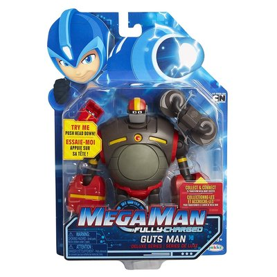 洛克人 Mega Man Fully Charged Guts Man 氣力人 可動公仔~請詢問庫存