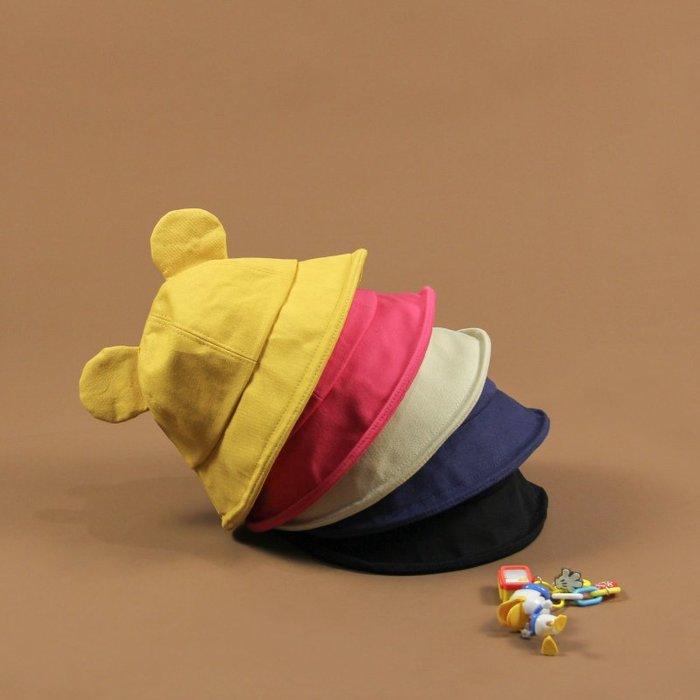 創意 服飾周邊韓國甜美可愛帽子賣萌軟妹風可愛米奇耳朵漁夫帽純色盆帽女學生