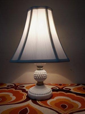 上海風 白瓷奶油燈/ 古董檯燈(1)