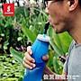 免運~戶外登山運動吸管水壺 TPU硅膠水杯 越...