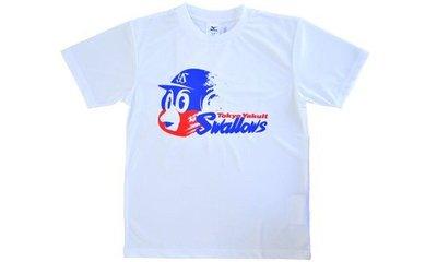 [現貨] NPB 養樂多燕子隊 (Yakult Swallows) 吉祥物燕九郎白色T恤--- L號