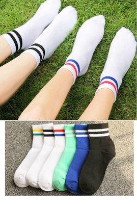 文青款熱銷復古雙條紋襪 百搭 雙槓襪 ...