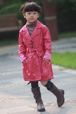 好再來外貿館紐西蘭pumpkin patch亮麗玫瑰紅  兒童 風衣  保暖外套