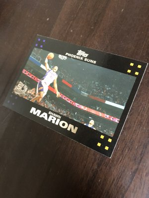 SHAWN MARION 2007 TOPPS 50紀念卡 31 卡片如圖