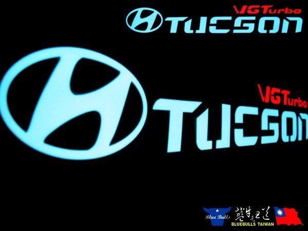【藍牛冷光】TUCSON VG TURBO 冷光貼紙 煞車燈 60CM*10CM 發光圖樣文字皆可加價修改訂做