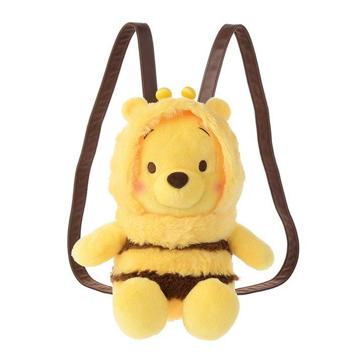 代購現貨  日本迪士尼 蜜蜂維尼玩偶後背包