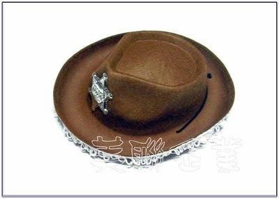 [美聯企業]全新台製警長牛仔帽附帽帶-(小款棕色)《整組6頂150元》(角色扮演/化妝舞會/表演道具帽子/警長帽)