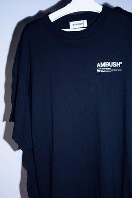 Ambush FIN Logo Tee 鯊魚 翅膀 解構