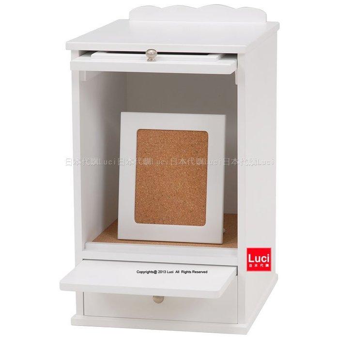 寵物 納骨塔 追思 紀念 火化 骨灰罈 分骨袋 典雅白色 保存櫃 日版 LUCI日本代購