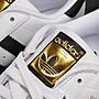 ADIDAS ORIGINALS SUPER STAR 白黑 黑線 金標 經典款 愛迪達 貝殼頭 男女鞋  C77124
