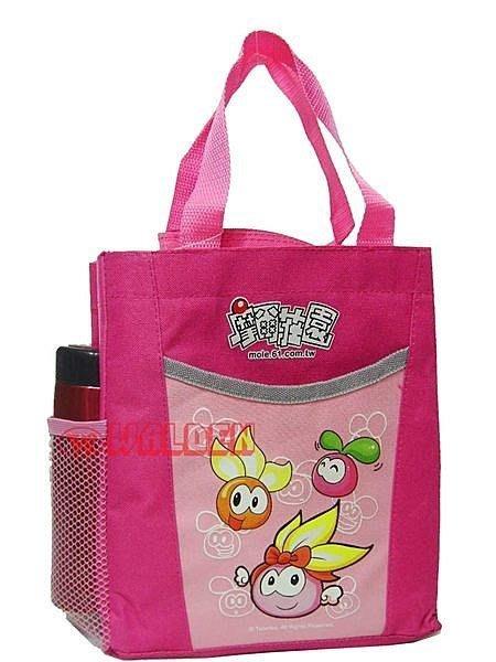 《葳爾登》摩爾莊園便當袋手提袋書包/補習袋文具袋購物袋摩爾莊園便當袋4510粉