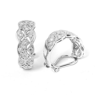 【JHT金宏總珠寶/GIA鑽石專賣】天然鑽石耳環 D:0.20ct X2 PT900/18K (JB33-B20)