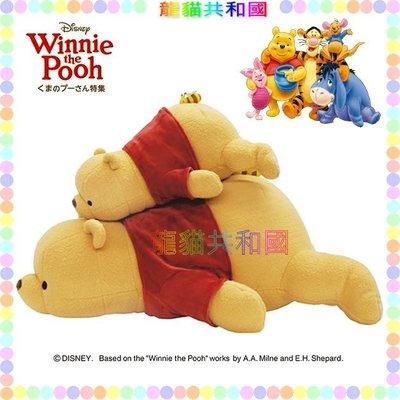 ※龍貓共和國※日本Disney迪士尼《Nemu Nemu小熊維尼POOH維尼熊 抱枕 特大絨毛娃娃 玩偶50公分M號》