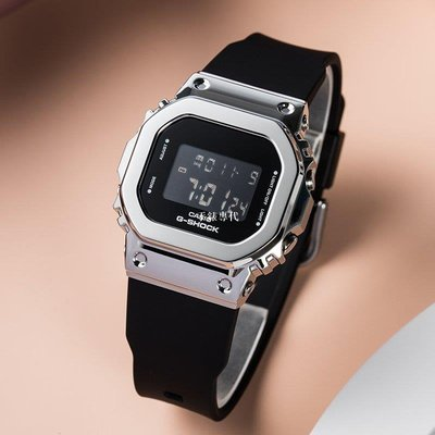 HG手錶代購~卡西歐金屬小方塊G-SHOCK復古運動手錶GM-S5600-1/GM-S5600PG-4