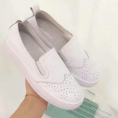 📍出清下殺📍韓國熱賣款真皮 真皮小白鞋 真皮懶人鞋 平底鞋 休閒鞋