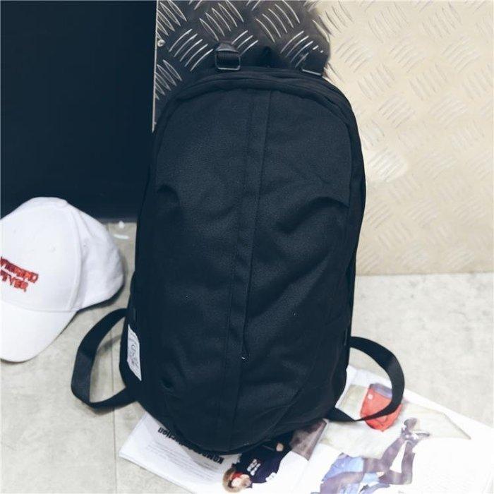 ☜男神閣☞雙肩包男潮流時尚休閒帆布背包簡約百搭學生書包女戶外旅行包運動