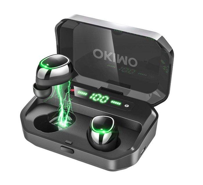 《FOS》日本 OKIMO 無線藍牙耳機 高續航力 125小時續航 IPX7防水防塵 運動耳機 團購 2019 熱銷第一