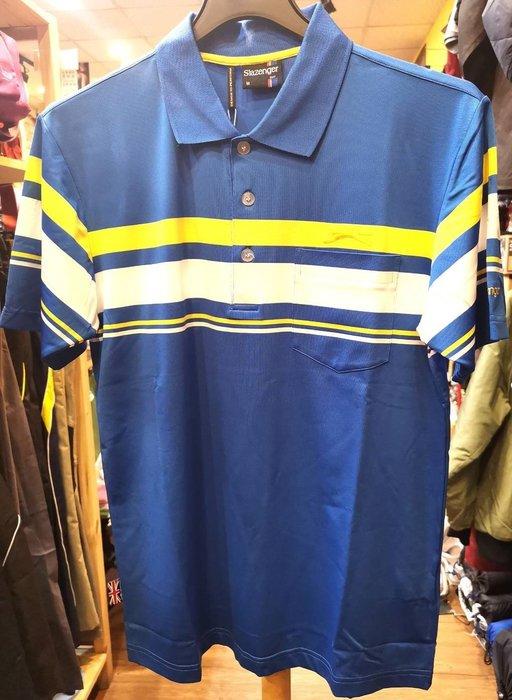 【A' SPORT】Slazenger 高彈力抗紫外線吸濕排汗高爾夫球短衫 526004 抗UV/運動/戶外