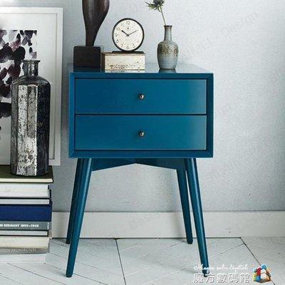 北歐床頭櫃簡約現代實木小櫃子個性創意床...