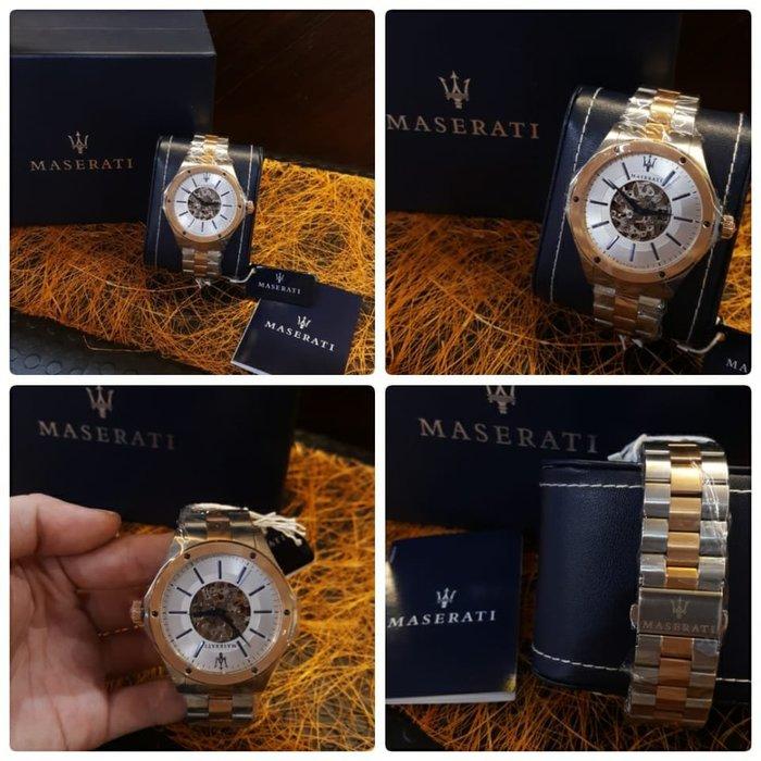 【現貨】 男 瑪莎拉蒂手錶 銀色款 機械錶 銀色鋼錶帶  R8823127001  保證正品 歡迎來店參觀選購