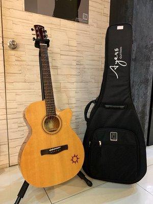 【名人樂器】Ayers ACS-NW Guitar 小太陽 雲杉木 民謠吉他