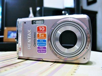 *羅浮工作室=免郵資,功能保固*PENTAX Optio M60 數位相機P2*