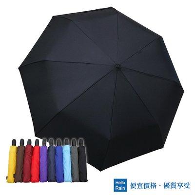 【Hello Rain】龍捲風防風自動雨傘(純黑)~138cm超大傘面