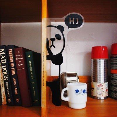 ❅PAVEE❅ 韓國Adorn House~ ANi Hide躲貓貓 萌系動物 辦公桌面整理 螢幕透明留言板~ 貓熊